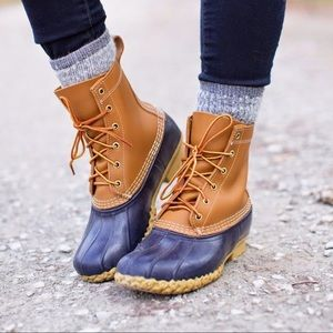 Shoes - Navy Duck Boot